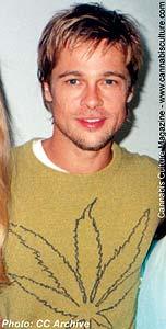 Brad Pitt: open about his stoner desires.