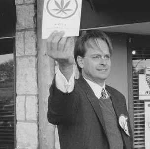 Marc campaigning for the BC Marijuana Party