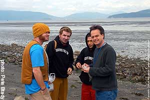 Marc and judges enjoying BC`s beaches and buds