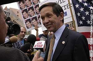 Democratic presidential candidate Dennis Kucinich