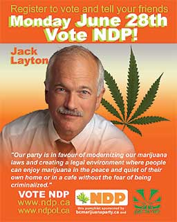 Marc Emery`s controversial handbill featuring Jack Layton