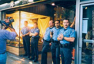 Police at Hemp BC during 1996 raid