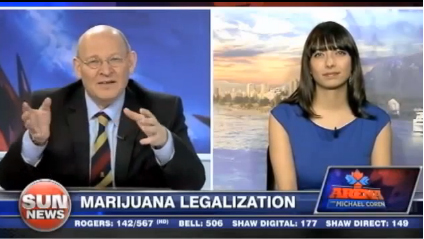 Jodie Emery and Michael Coren on Sun TV News Media