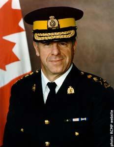 RCMP Commissioner Giuliano (Zack) Zaccardelli