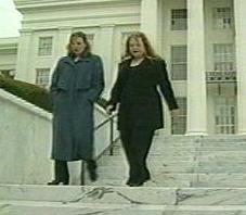Loretta Nall leaves the Alabama Capitol building