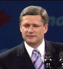 Stephen Harper delivers election speech