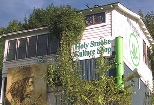 The Holy Smoke store in Nelson, BC