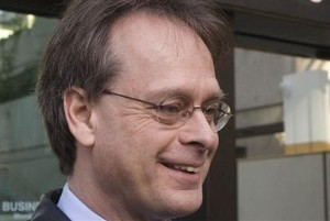 Marc Emery talks with media outside court in March - Andy Clark/Reuters