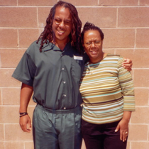 Karen Garrison visits her son Lawrence in prison