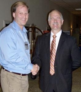 Dana Larsen with NDP leader Jack Layton