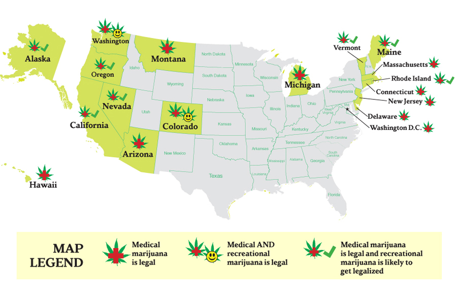 The Next Seven States To Legalize Pot