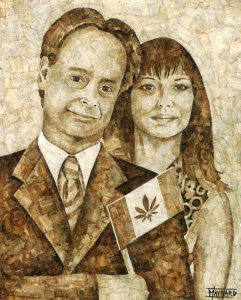 Marc and Jodie, roach paper mosaic