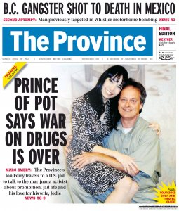 The Province cover, Sunday April 29, 2012