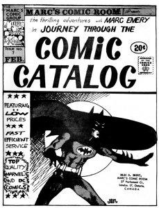 """Marc's Comic Room"" catalog"