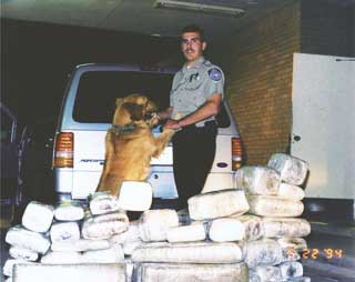 May 22, 1994: I seized over 500 pounds of marijuana that day