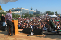 Best-selling Travel Author, TV Host and NORML Advisory Board Member Rick Steves Addresses Over 100,000 Cannabis Law Reform Supporters At The 2008 Seattle Hempfest.
