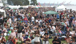 Hempfest was bigger and better than ever in 2009, and promises to do it again this year. But without plenty of community support and green energy, this could be the last time. (Photo by Pete Santos/Seattle Hempfest)
