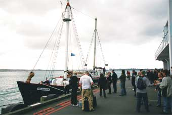The New Zealand Cup was held on board this century-old schooner