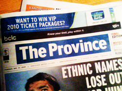 The Vancouver Province, a CanWest newspaper, says Marc Emery is paranoid with delusions of grandeur.