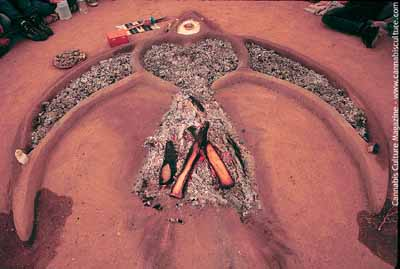 The cerimonial firepit