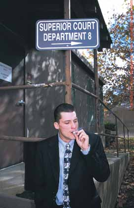 Ryan Landers: smoking med-pot less than 20 feet from where the Kubbys sat on trial.