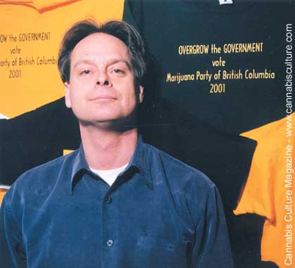 Marc Emery: Happy to be back in the old Hemp BC location. photo by Barge