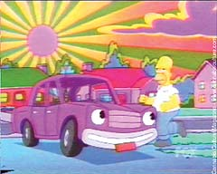 Homer Simpson: driving stoned.