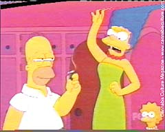 Marge Simpson: against Homer doing `drugs.`
