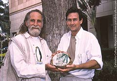 Roger Christie (left) and Aaron Anderson: activists arrested for importing hemp seeds.