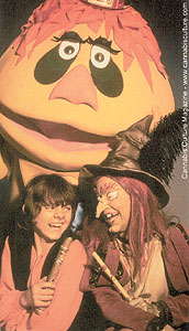 Pufnstuf, Jimmy and Witchiepoo.