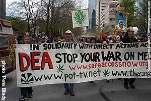 Pot protesters take to the streets around the world