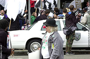 Wavy Gravy at the rally
