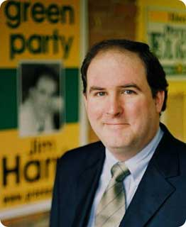 Green Party leader Jim Harris