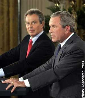Tony Blair and US President GW Bush
