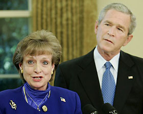Harriet Miers and her good pal Bush