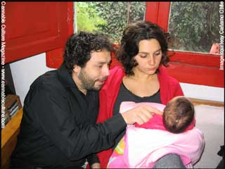 Claudio with Catalina & their new baby Julia