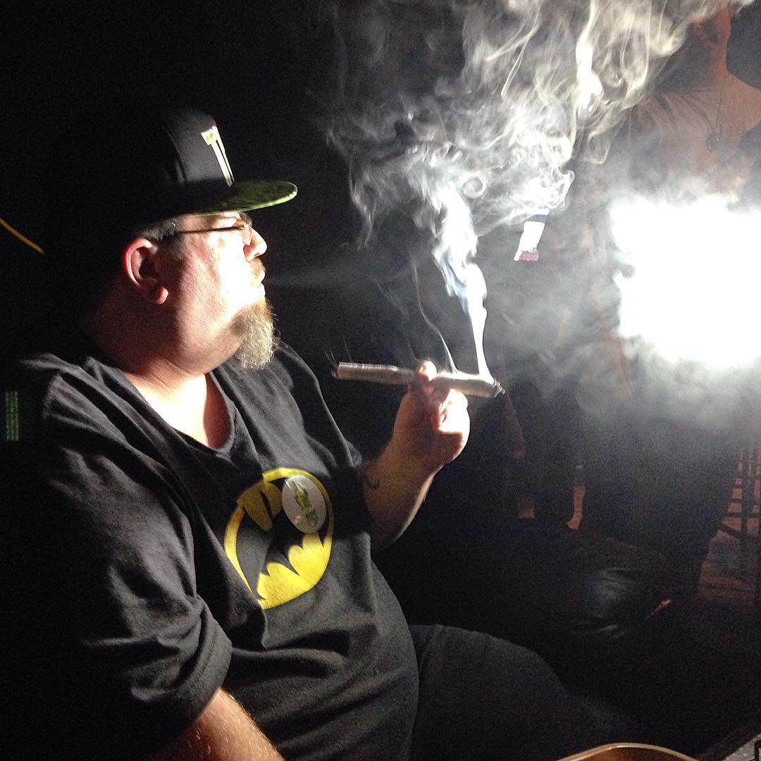 Big Jeff smoking a giant joint this weekend at Thehellip