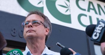 CI-POTSHOP24 Scenes at the re-opening of the Cannabis Culture pot shop. 'Prince of Pot' Marc Emery owns the franchise.  Uploaded external by: Robinson, Michael