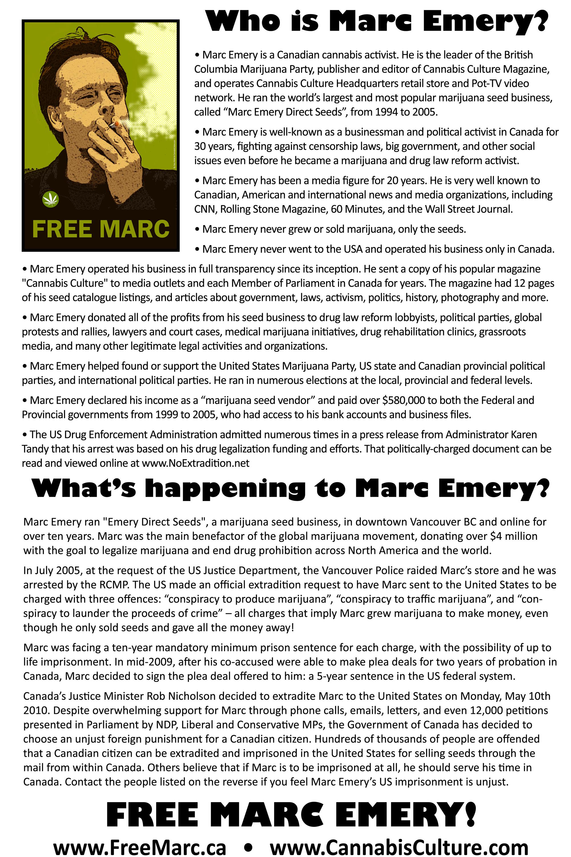 Free marc emery cannabis culture back page nvjuhfo Choice Image