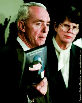 Barry McCaffrey and Janet Reno: displeased by report they commissioned