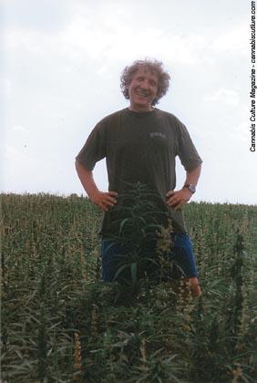Jerzy Przytyk, a man outstanding in his field of hemp.