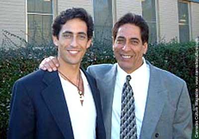 Steve Kubby and son Sky during court last December