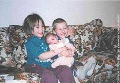 The Scott`s three children: Kaelee, 7, Seth, 4, and Liberty, 1