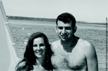 Lester Grinspoon and wife Betsy, enjoying the beach in earlier times.