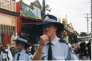 Nimbin police: stepping up attacks on cannabis and activists.