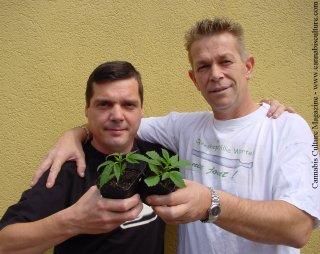 Colin Davies (left) and Nol Van Schaik