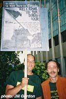 John `Flash` Gordon (right)