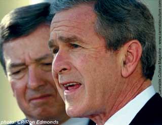 George Bush and John Ashcroft