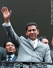 Ecuadorian President Lucio Gutierrez.