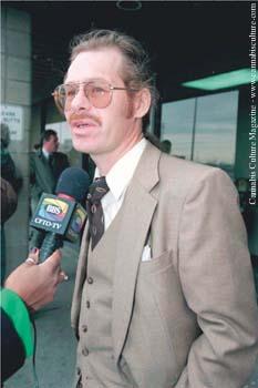 Terry Parker: activist meets the press.